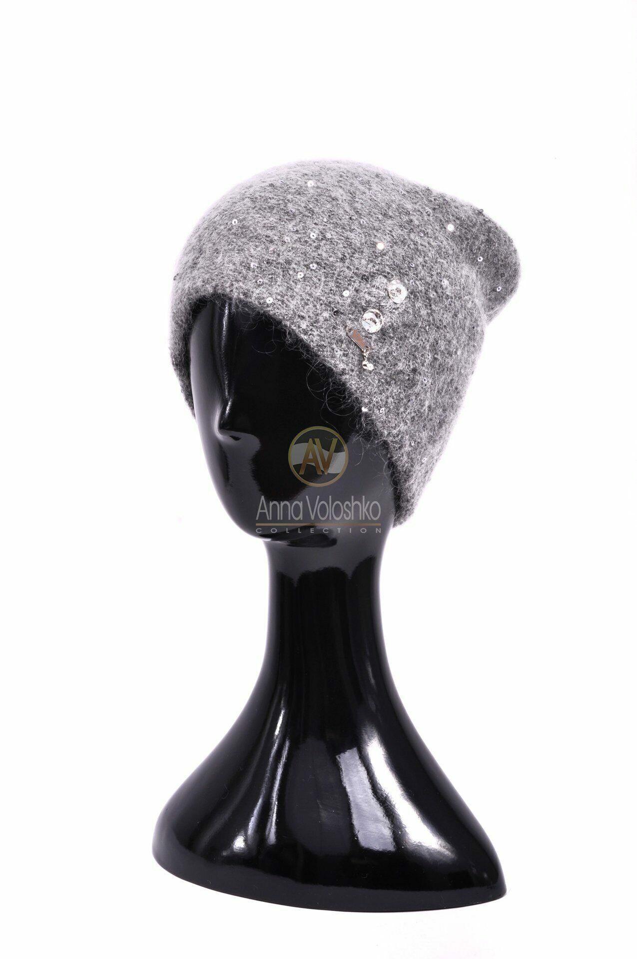 зимние шерстяные шапки женские